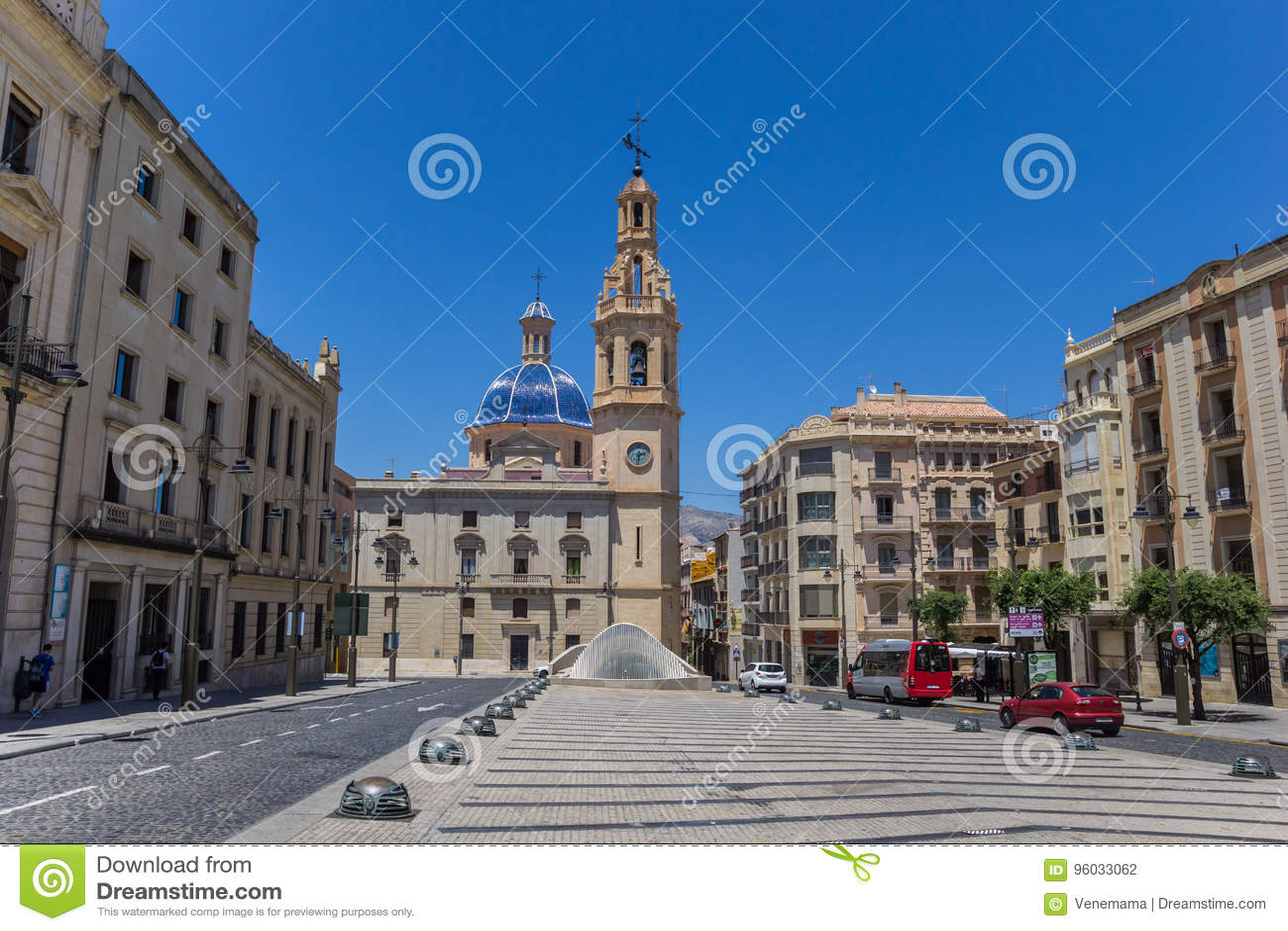 Santa Maria kościół przy nim główny plac Alcoy