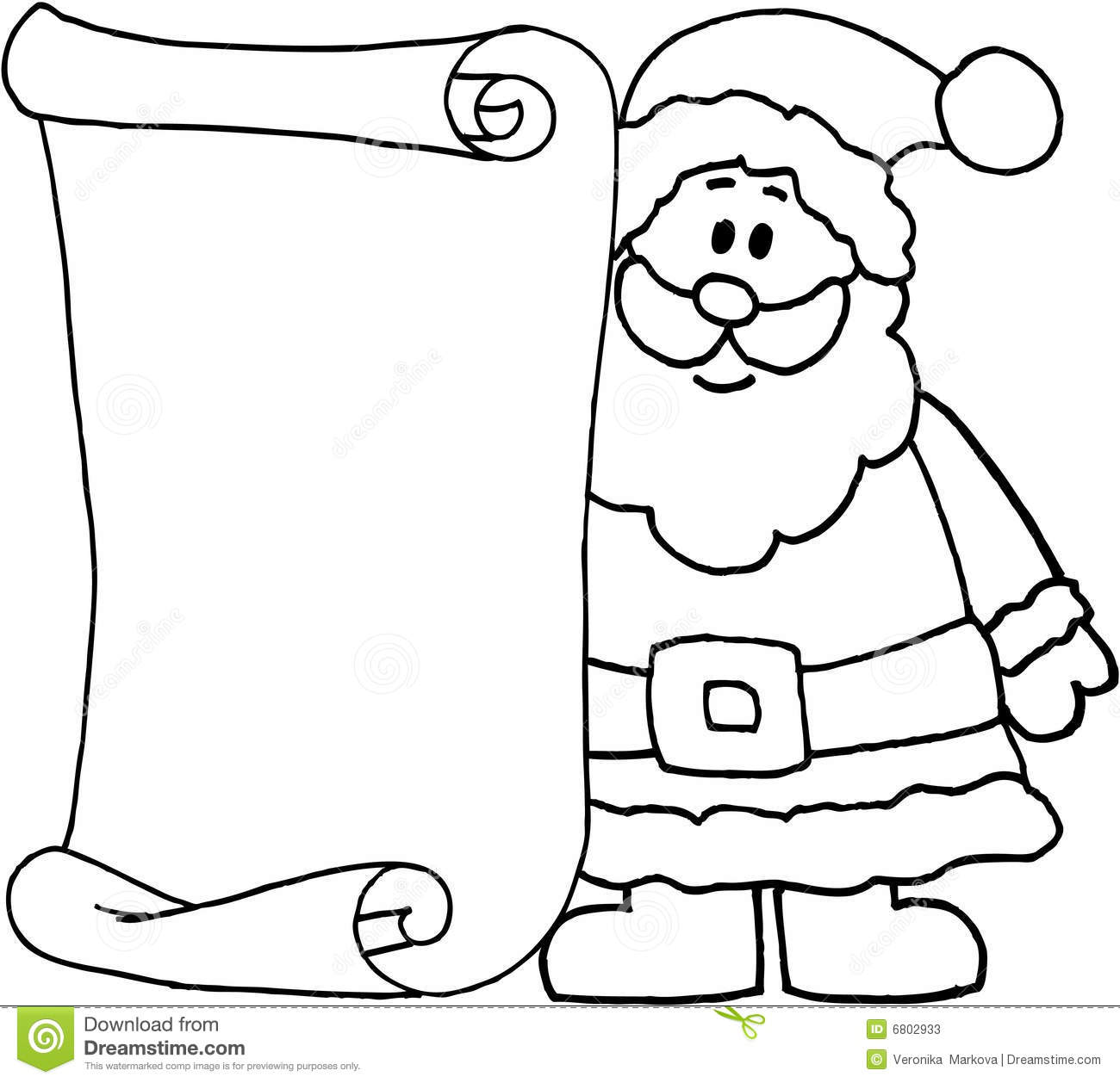 Free Printable Black And White Dear Santa Letter Clipart