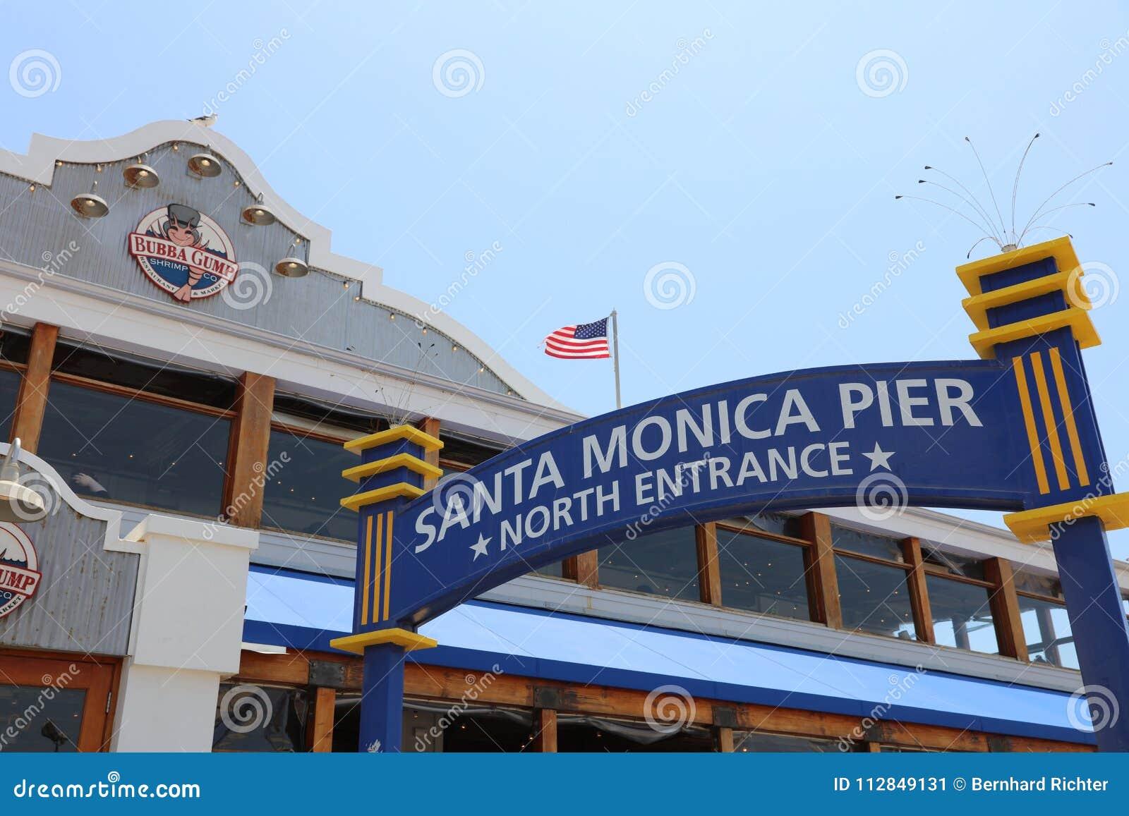 The Famous Santa Monica Pier In California Usa Editorial Photo
