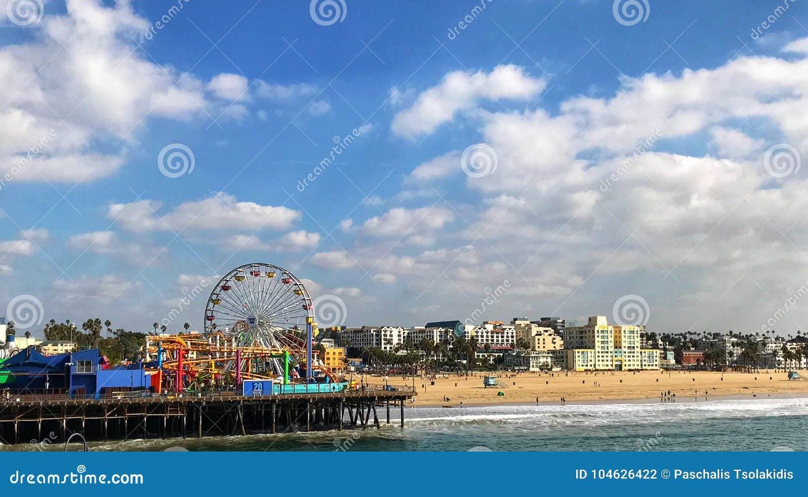 Download Santa Monica Pier stock foto. Afbeelding bestaande uit monica - 104626422