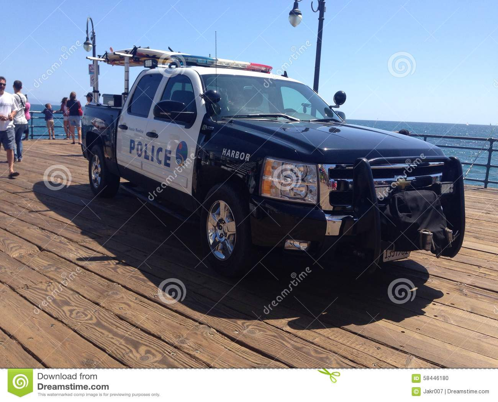 Santa Monica Police Car Editorial Image Image 58446180