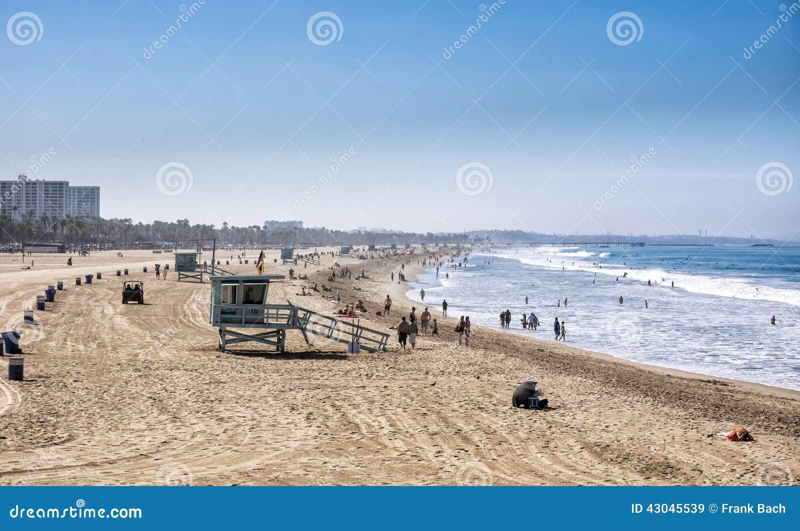 Santa Monica strand, Los Angeles, Kalifornien