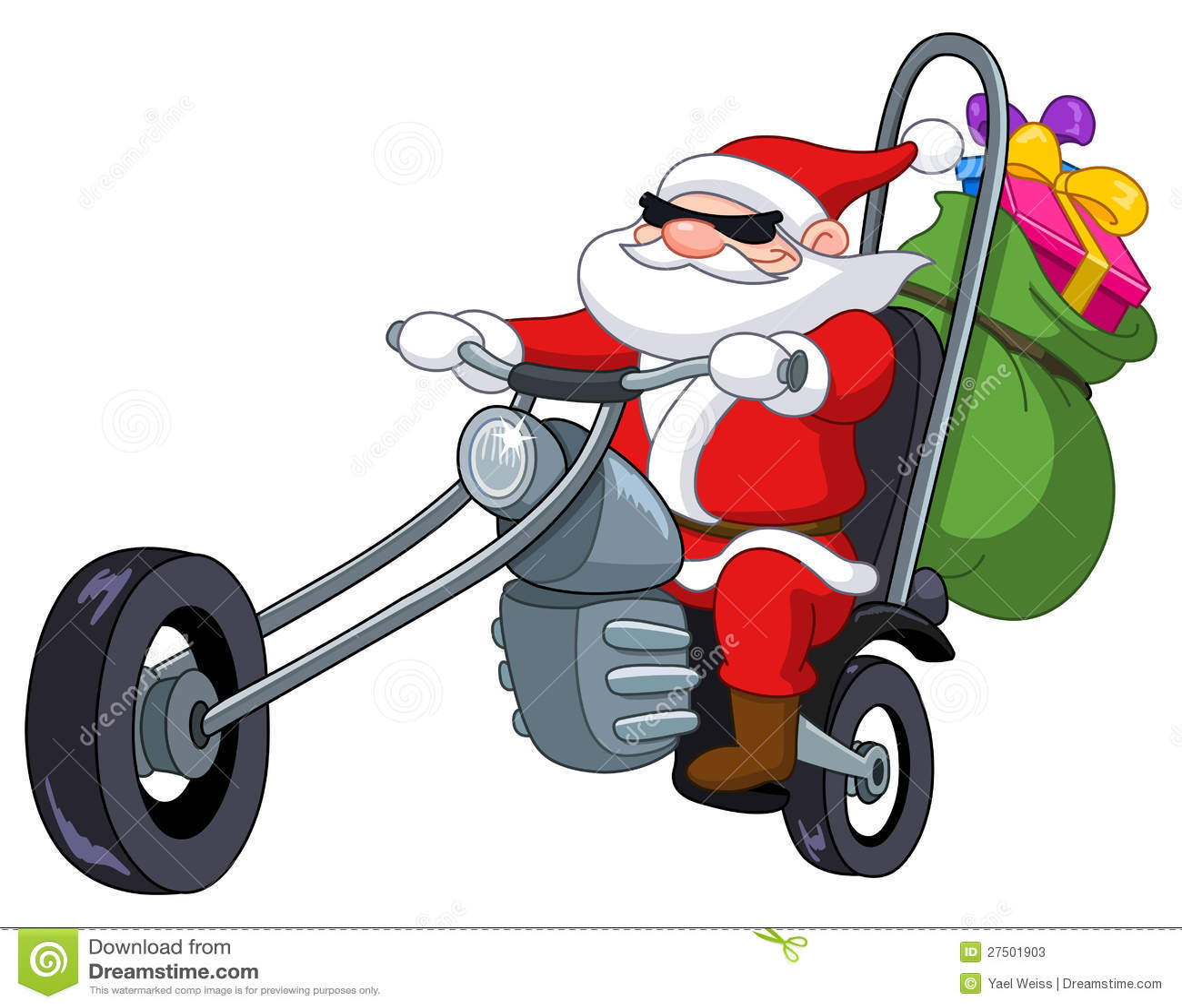 Santa With Motorcycle Stock Photos - Image: 27501903