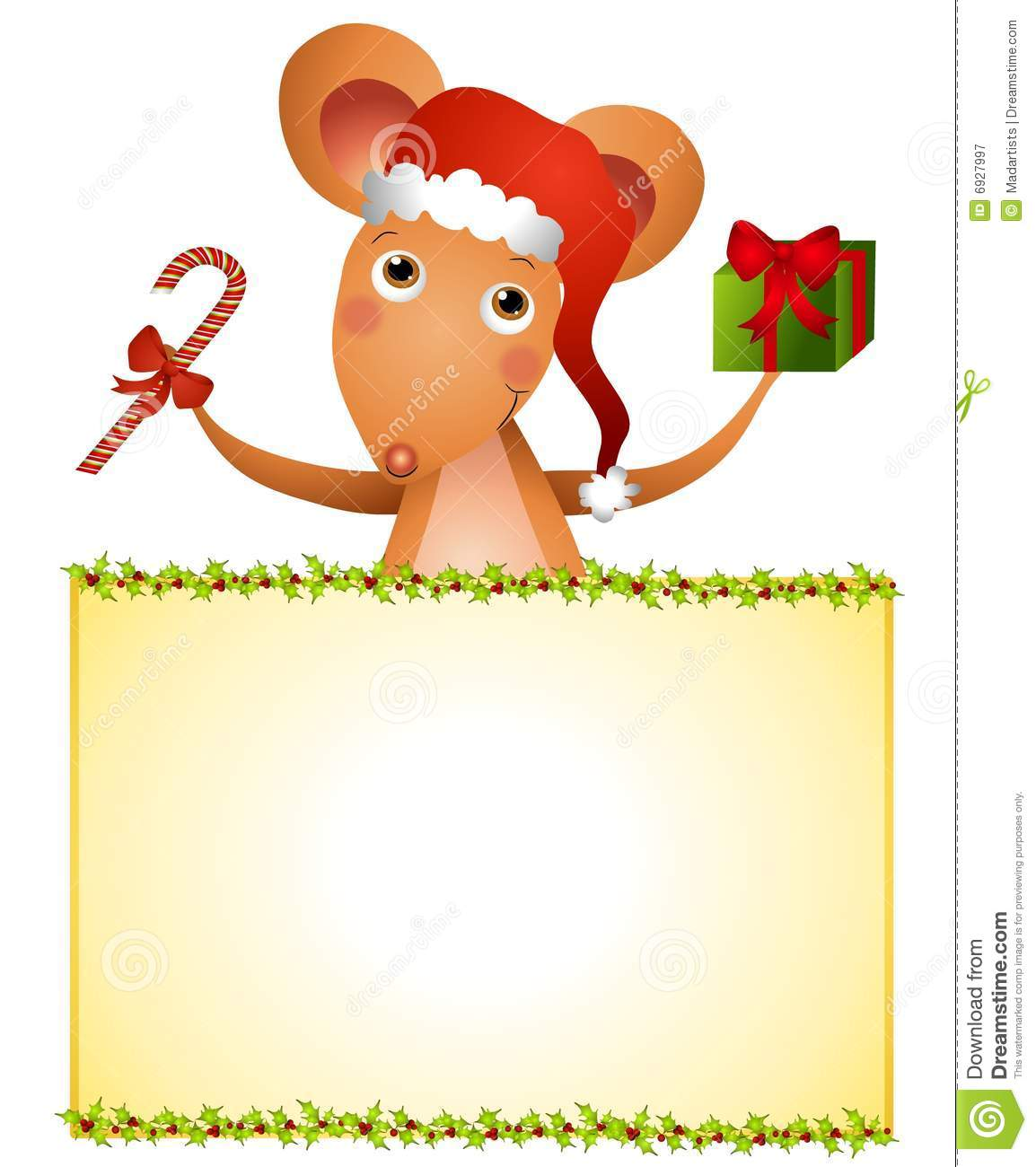 christmas mouse clipart - photo #20