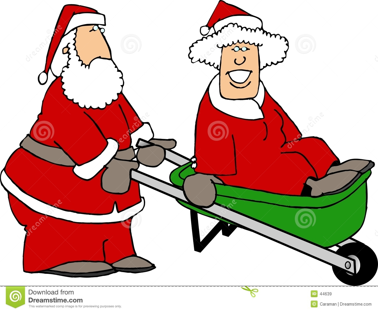 santa and mrs claus playing around stock illustration mrs. claus clipart images mrs claus black and white clipart