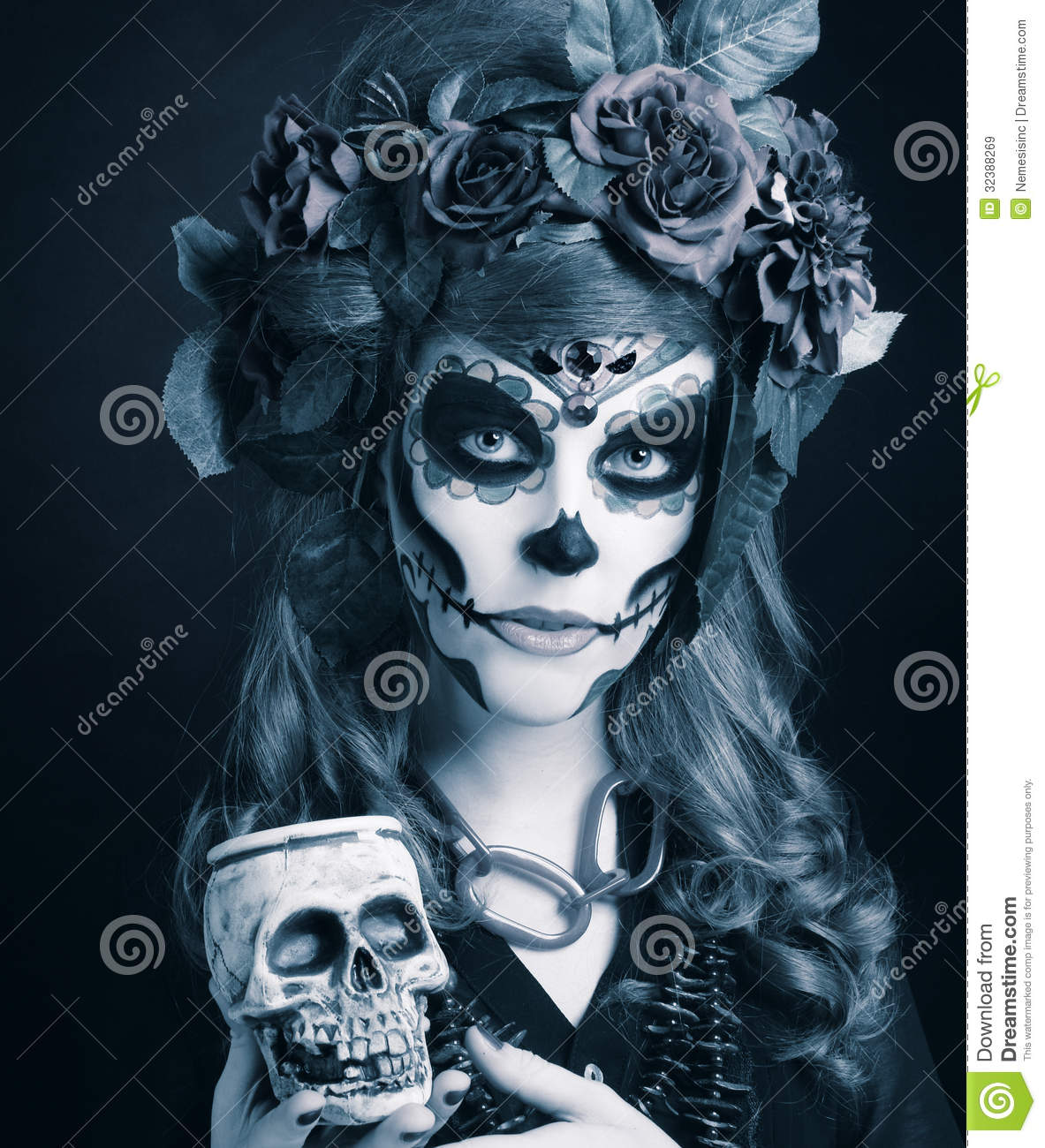 Skeleton Woman Halloween Costume