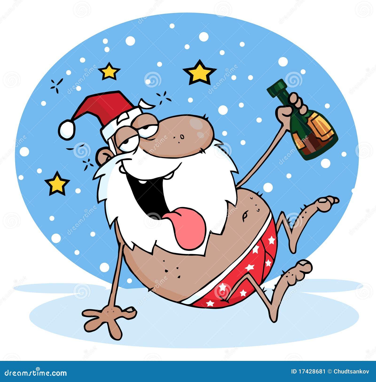 Santa negro borracho