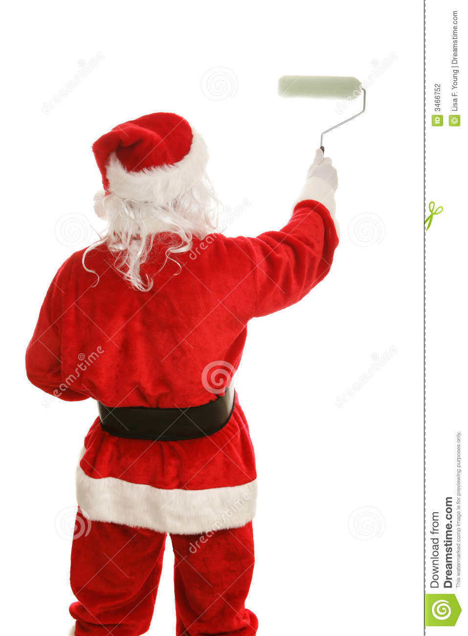 Santa Holding A Paint Brush