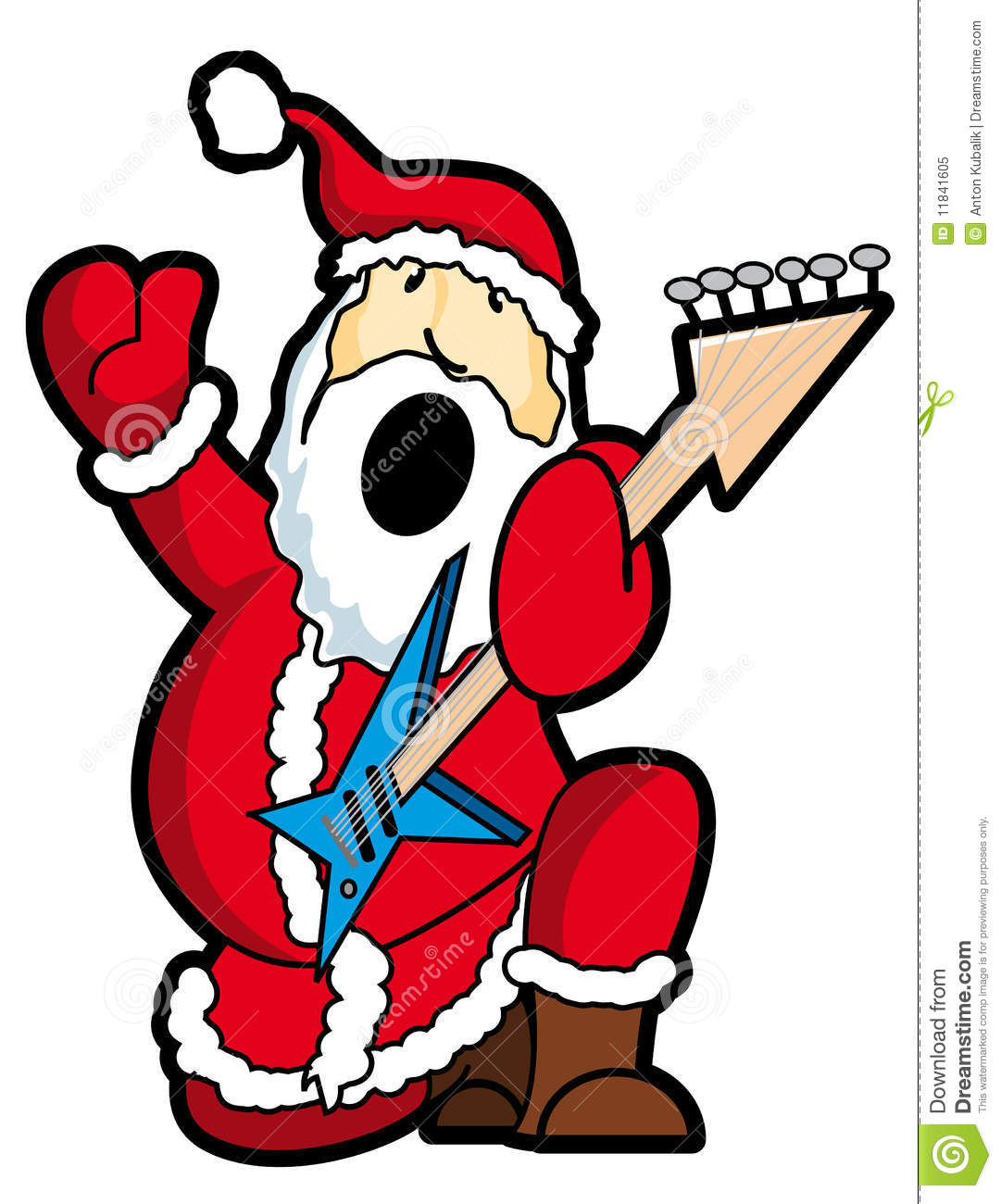 santa play guitar royalty free stock photo image 11841605 rock n roll clipart rock & roll clipart free