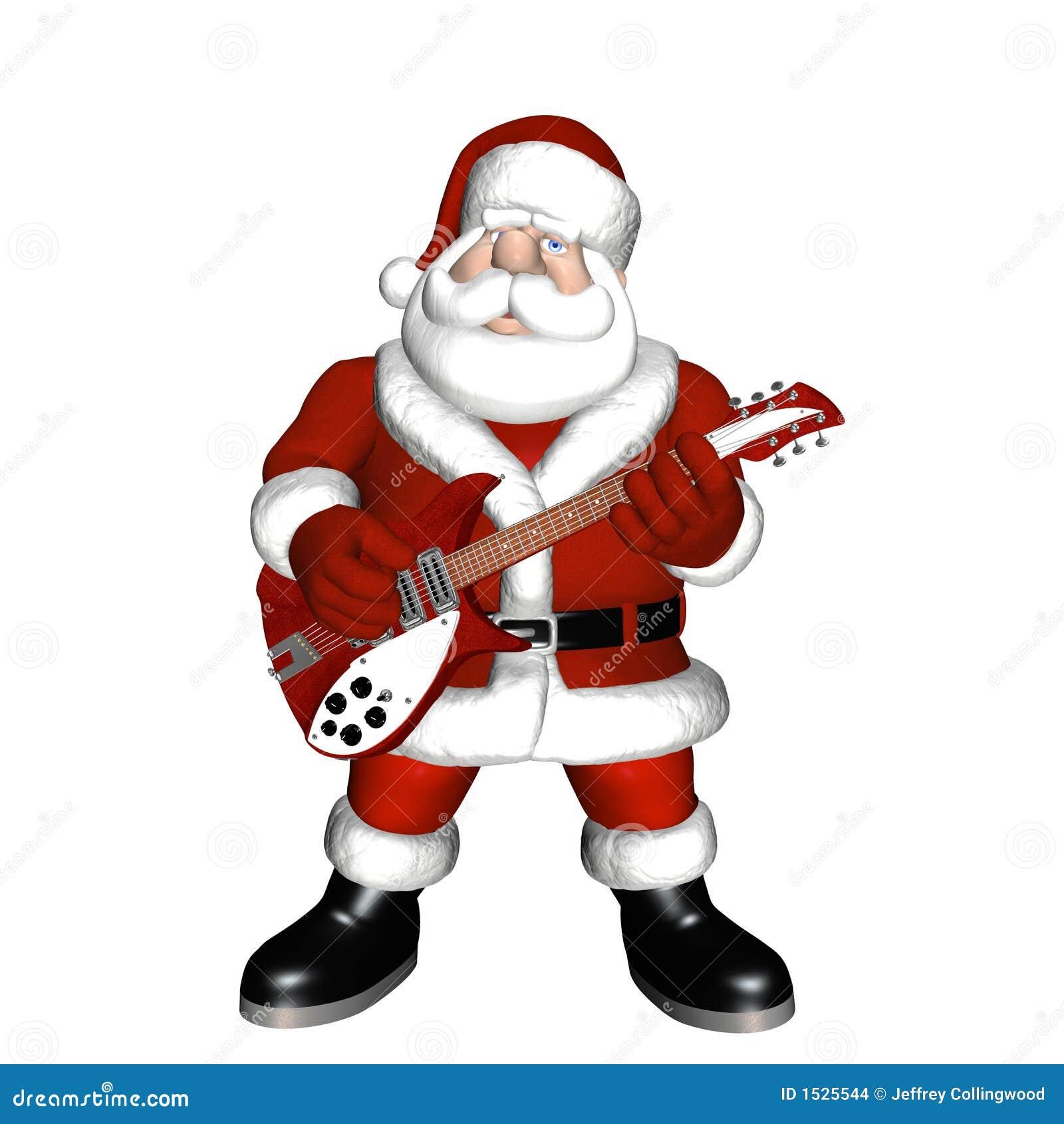 santa playing a guitar 1 stock illustration illustration clip art music instruments clip art music instruments