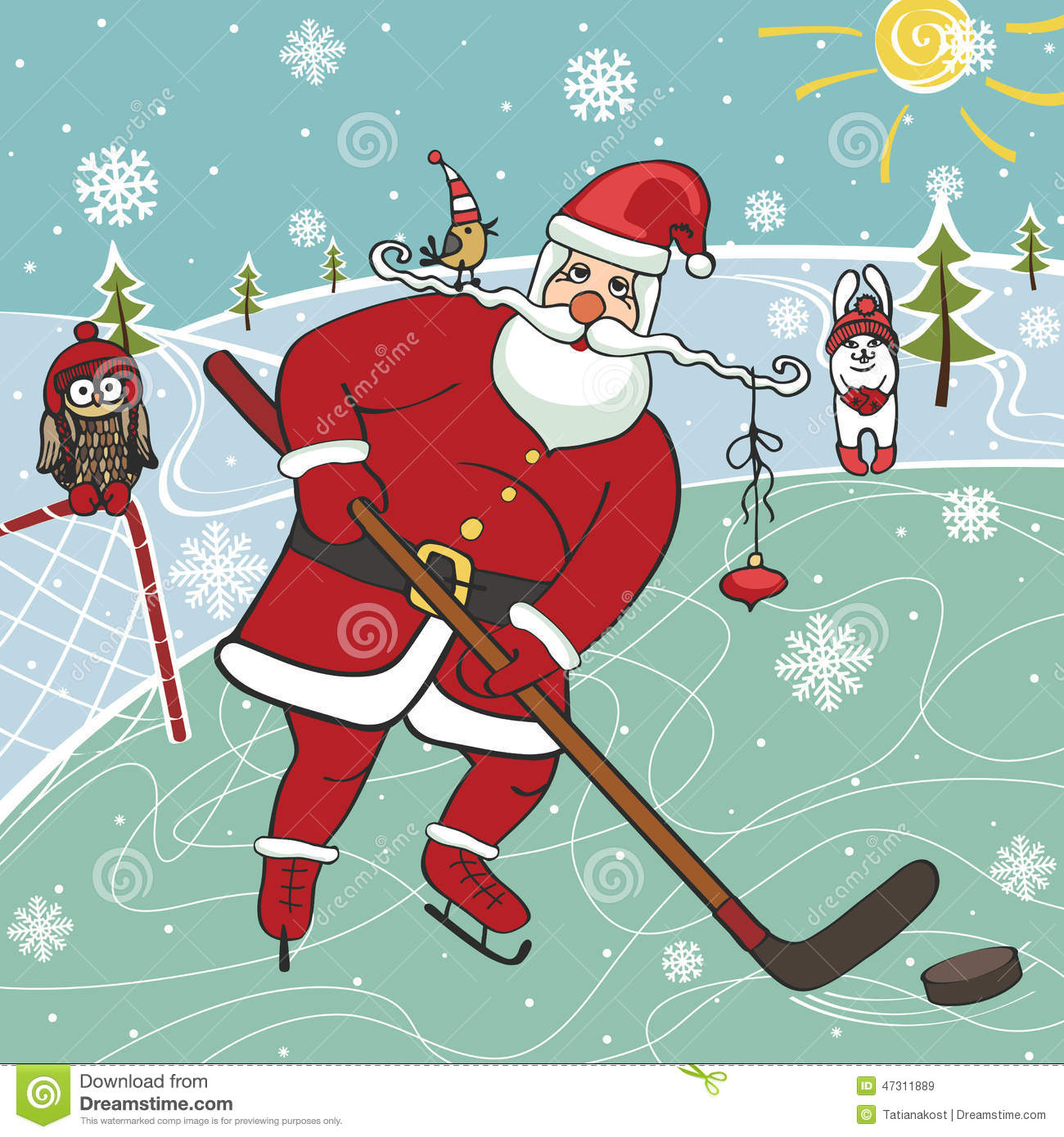 Hockey Santa Stock Photos, Images, & Pictures - 18 Images