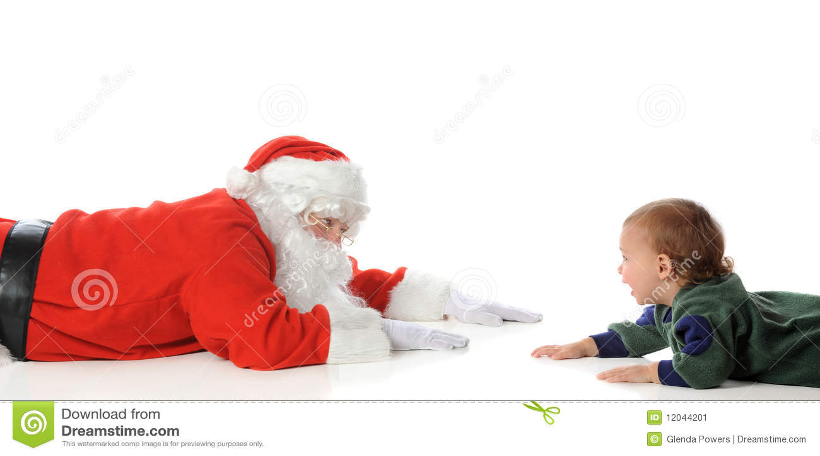 a2950dd15d Santa Playing with Toddler stock image. Image of santa - 12044201
