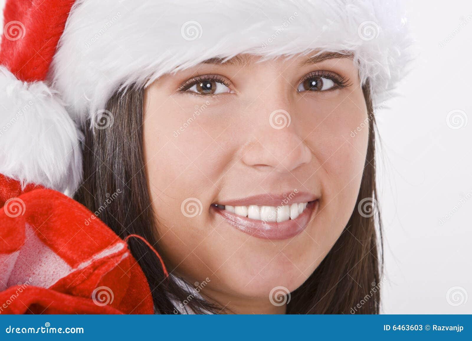Santa portret dziewczyny