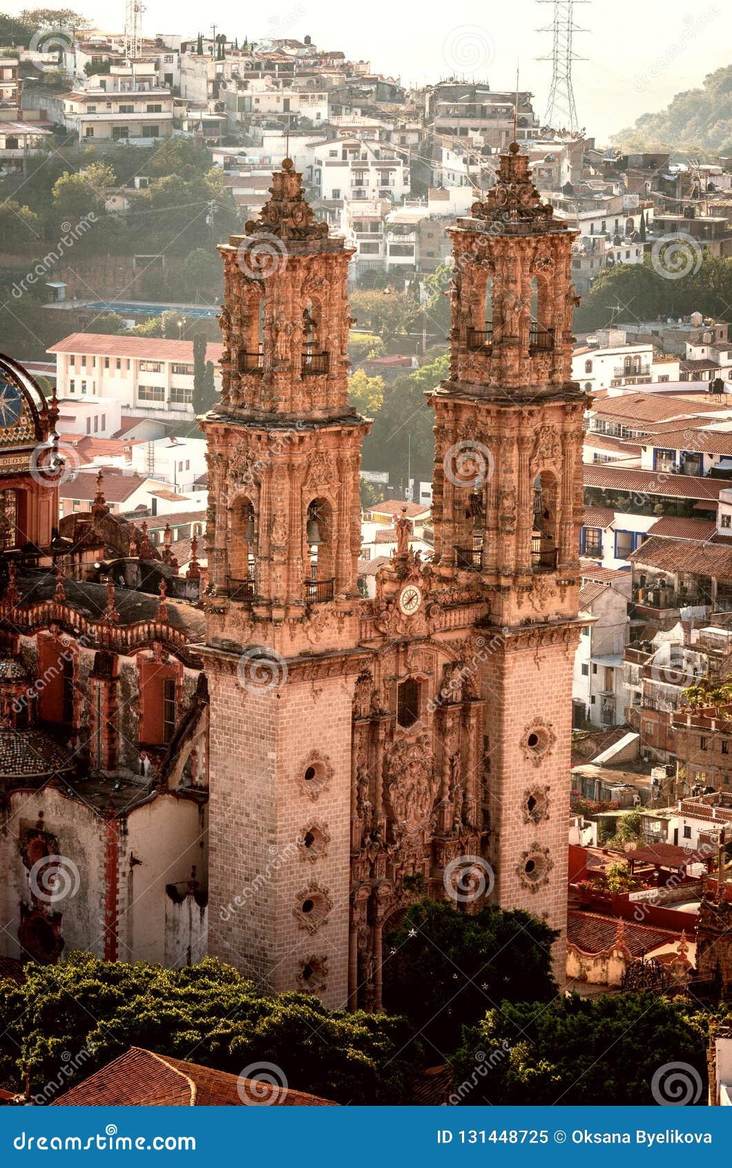 Santa Prisca kyrka i Taxco, Guerrero, Mexico