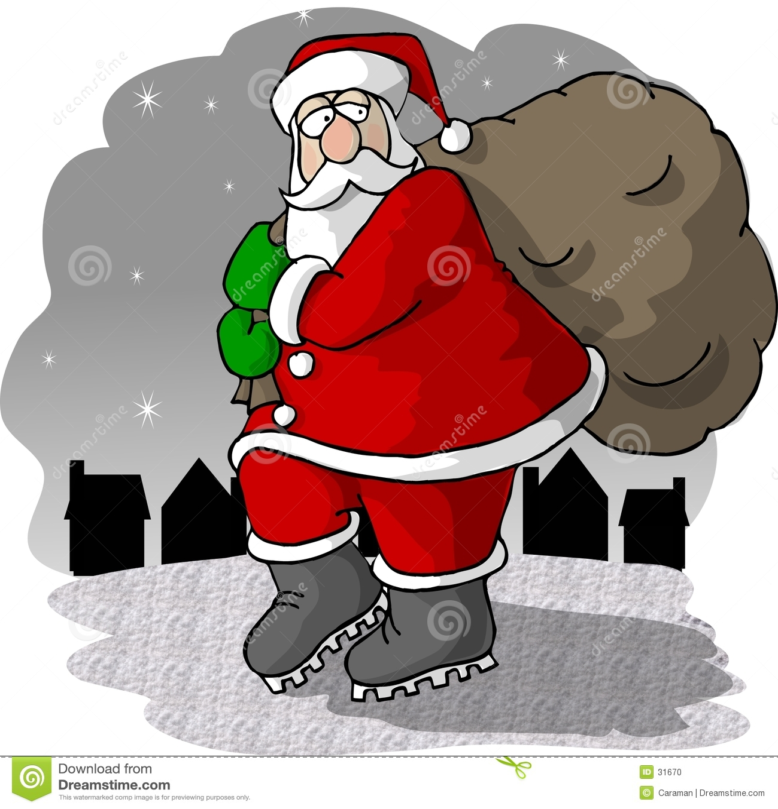 Download Santa Que Viene A La Ciudad Stock de ilustración - Ilustración de caricature, hombres: 31670