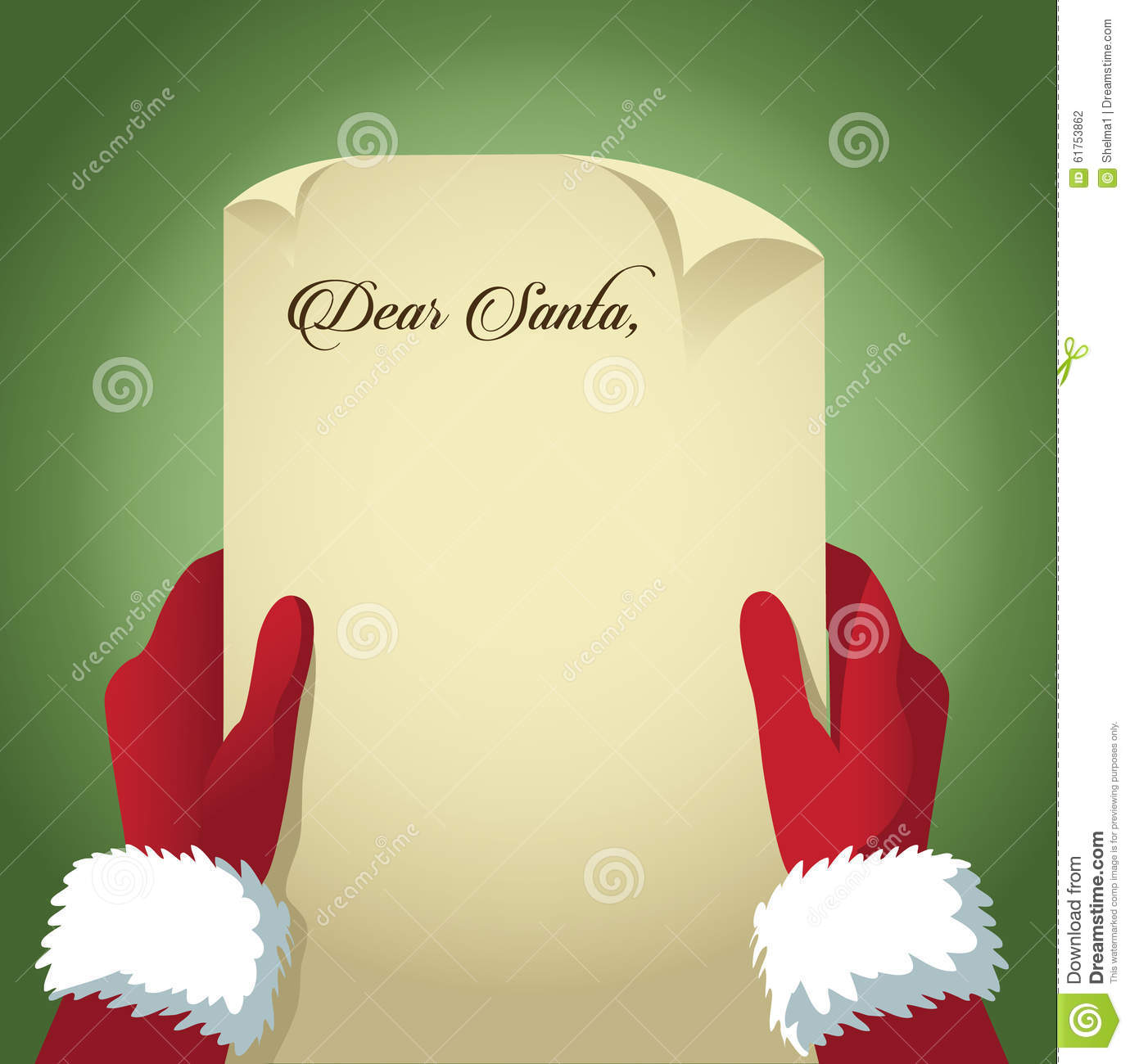 Santa reads a letter from children