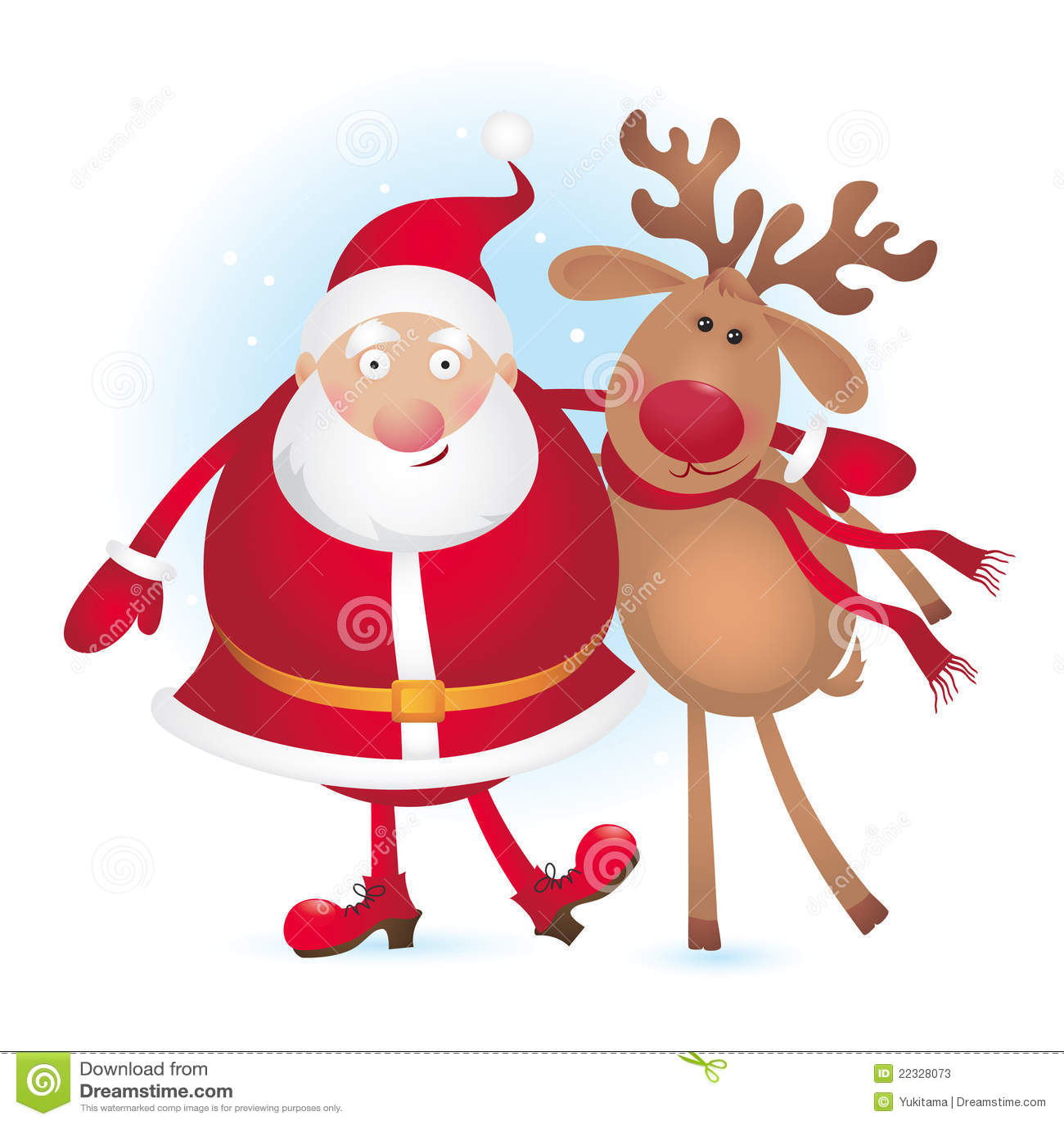 santa and reindeer - Santa And Reindeer Pictures