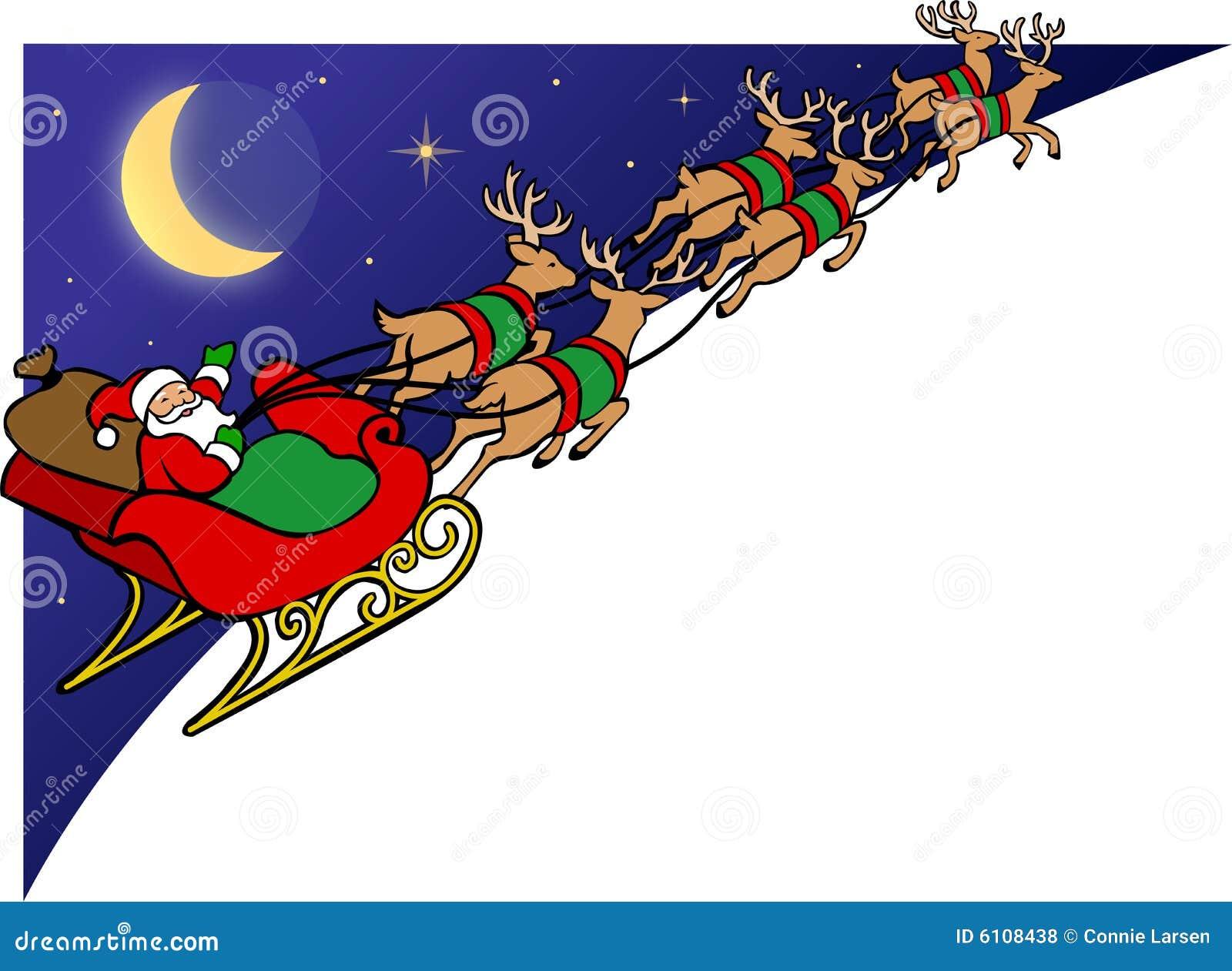 santa reindeer sleigh eps royalty free stock photos image 6108438