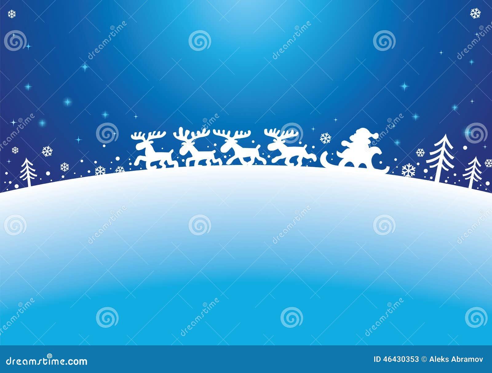 Santa And Reindeers Stock Vector - Image: 46430353