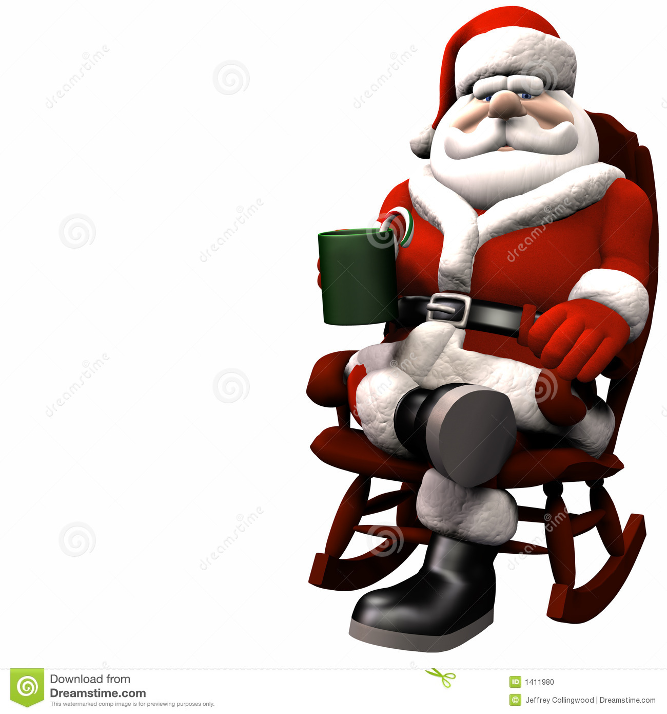 Santa Relaxing 1 Stock Photo Image 1411980