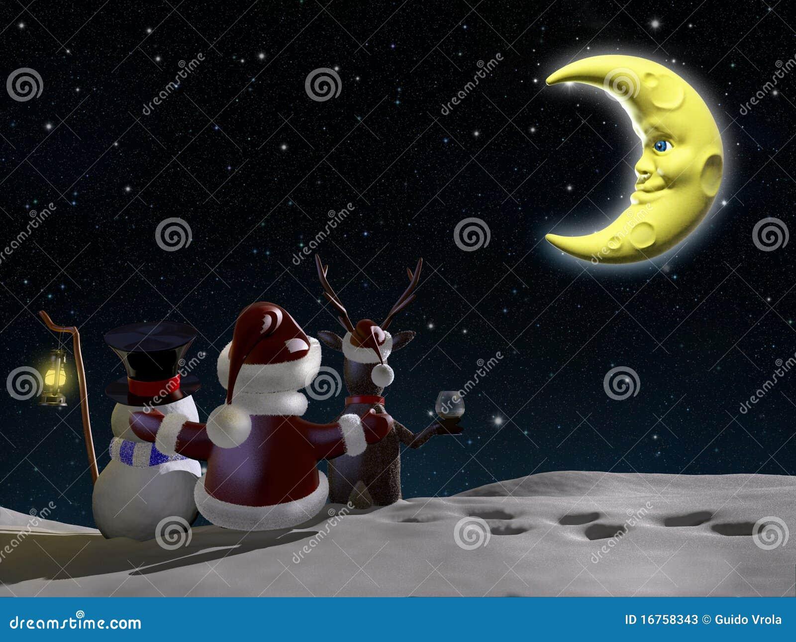 Santa, rena e gelado
