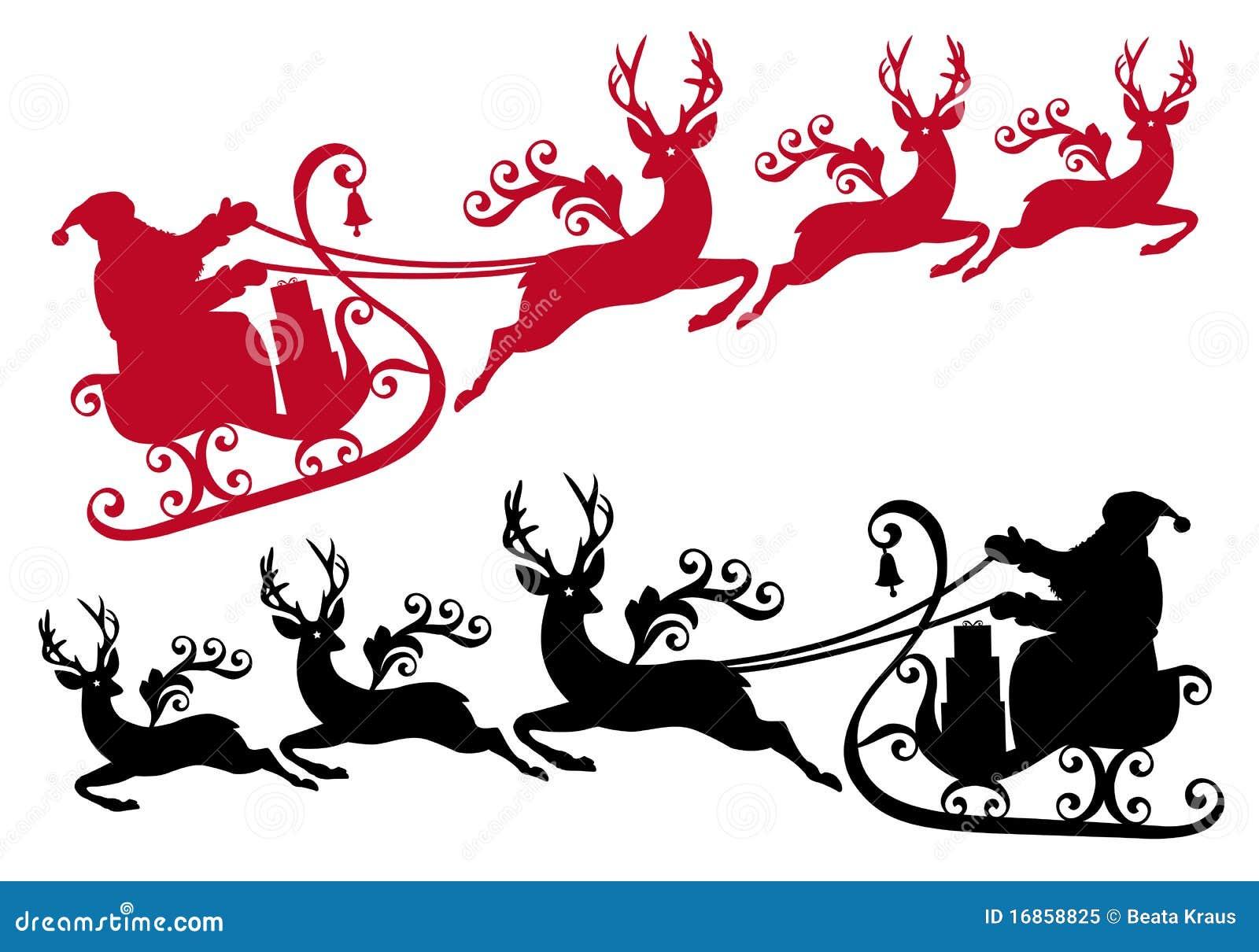Santa reniferowy sanie