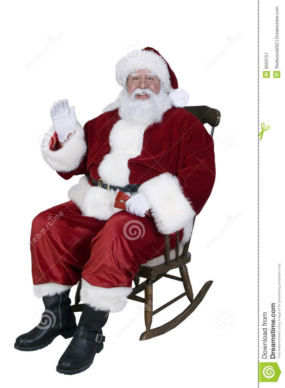 Santa Rocking Stock Image Image Of Holiday Children