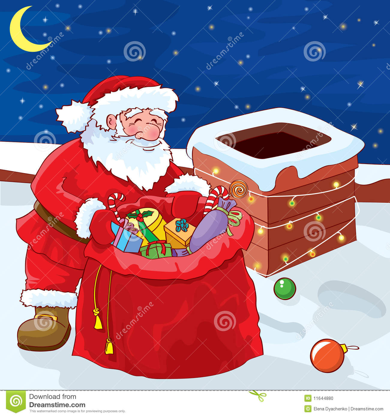 Santa On A Roof Stock Photo Image 11644880