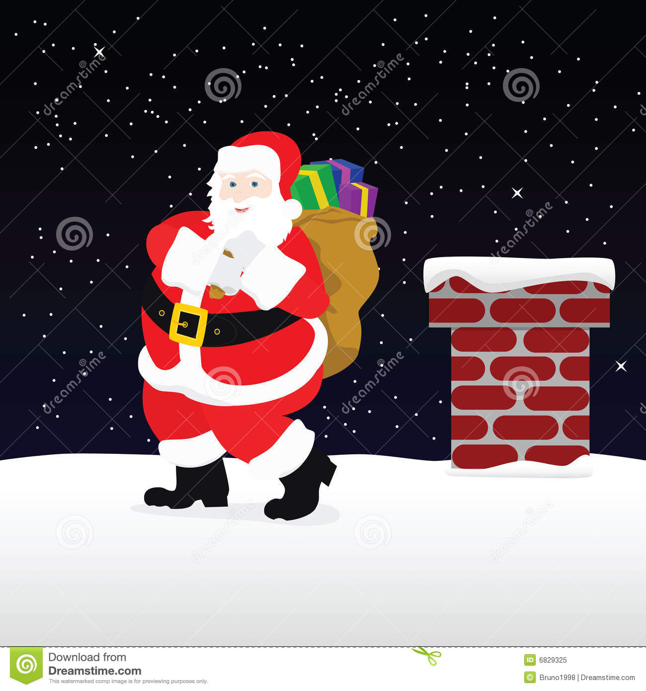 Santa on the roof royalty free stock photo image 6829325