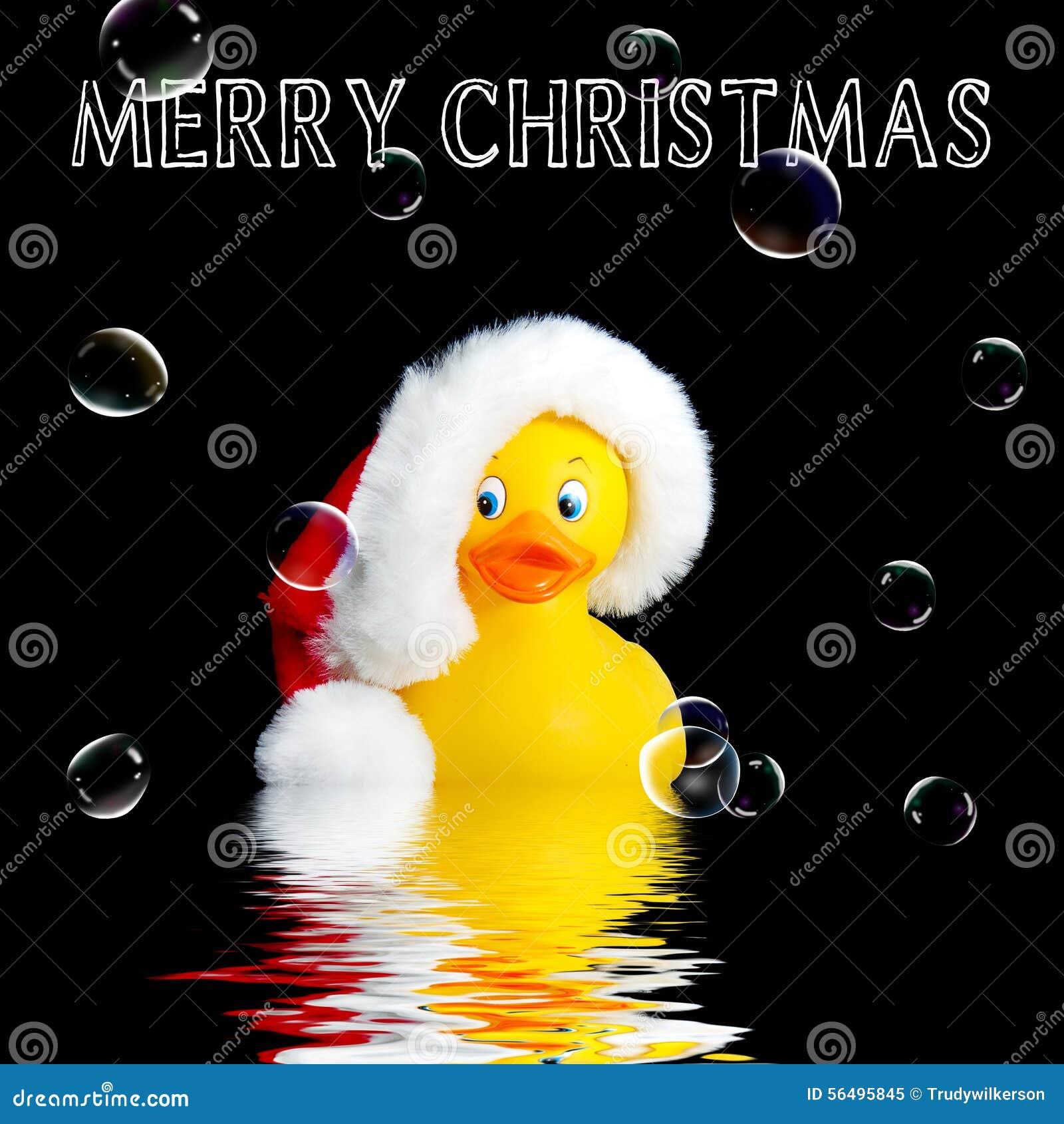 santa rubber duck christmas background - Christmas Duck