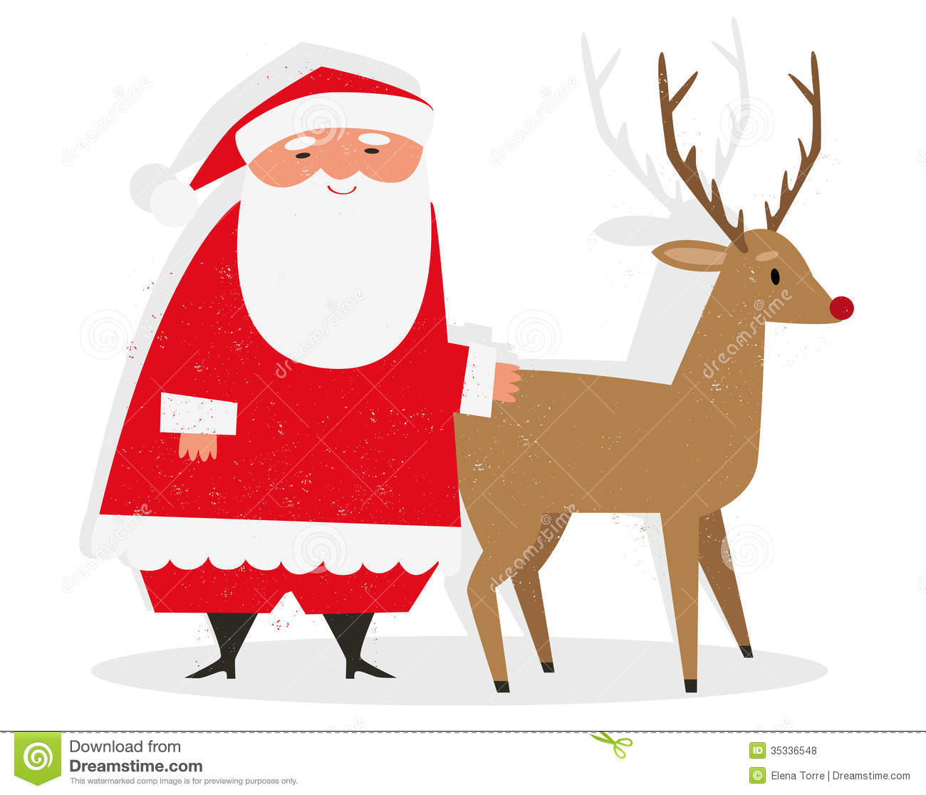 Uncategorized Santa And Rudolph santa rudolph royalty free stock photos image 35336548 claus eps illustration isolated nosed red reindeer santa