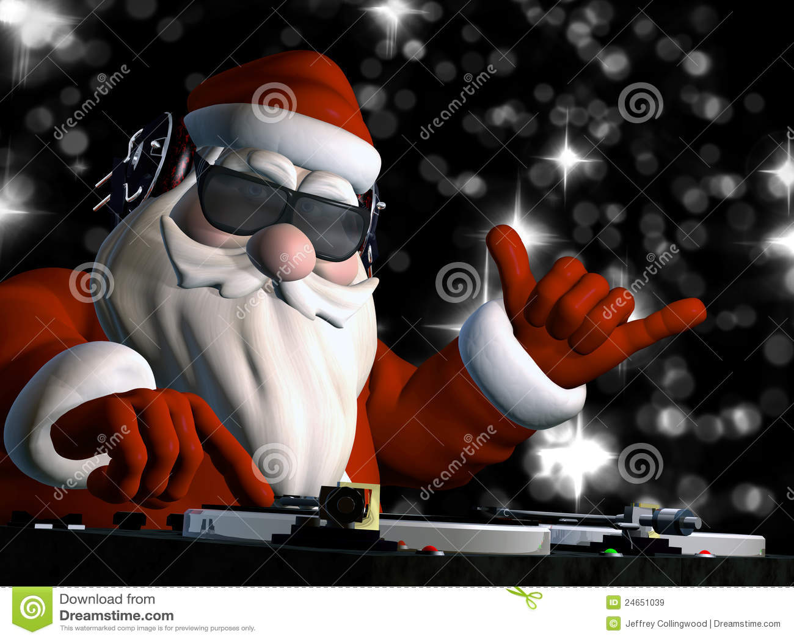 Santa S In Da House Stock Illustration Image Of Graphic