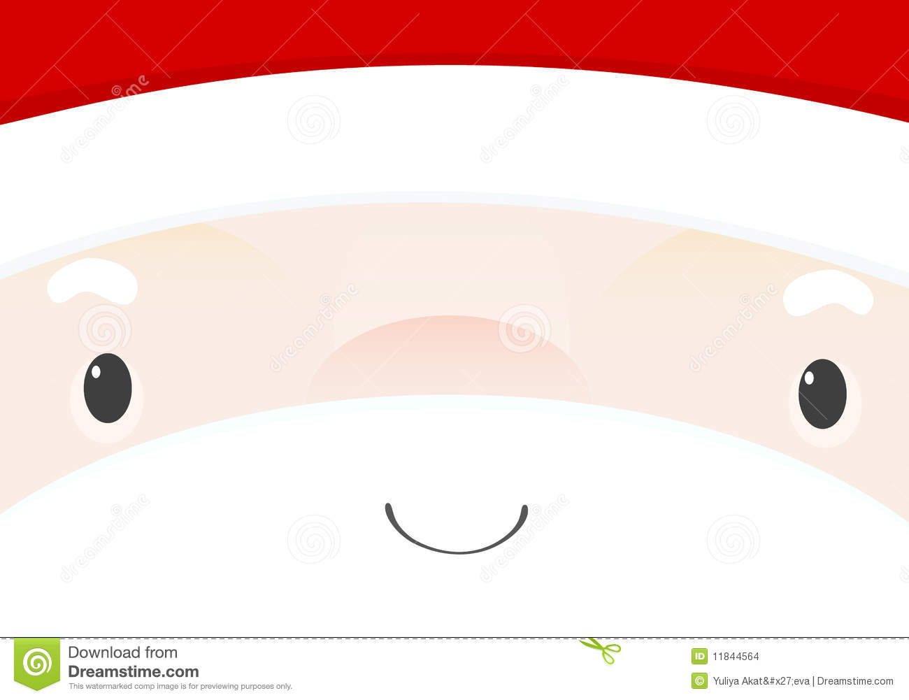santa s face stock vector illustration of holiday person 11844564