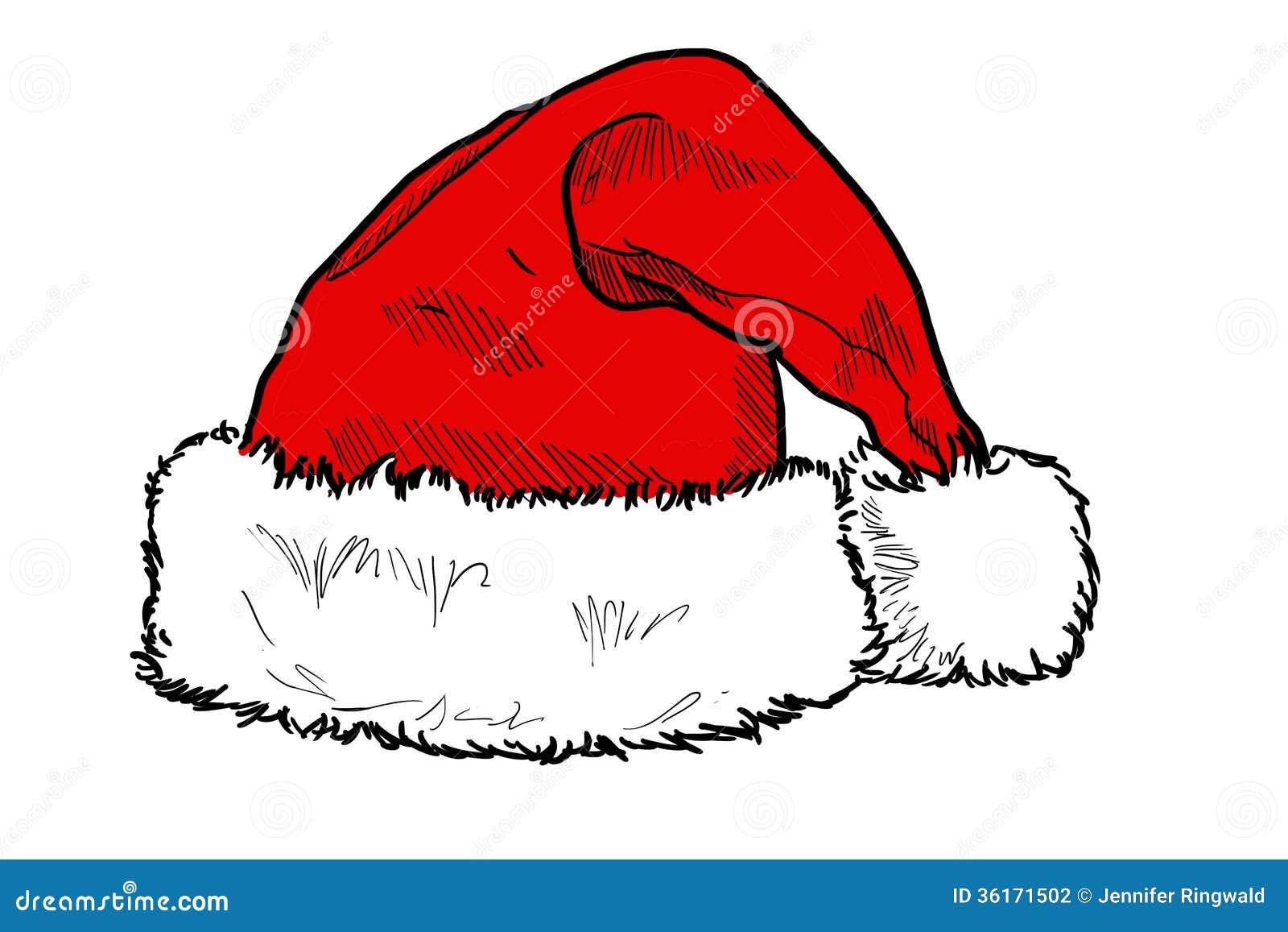 Santas Hat Stock Illustration Illustration Of Xman 36171502