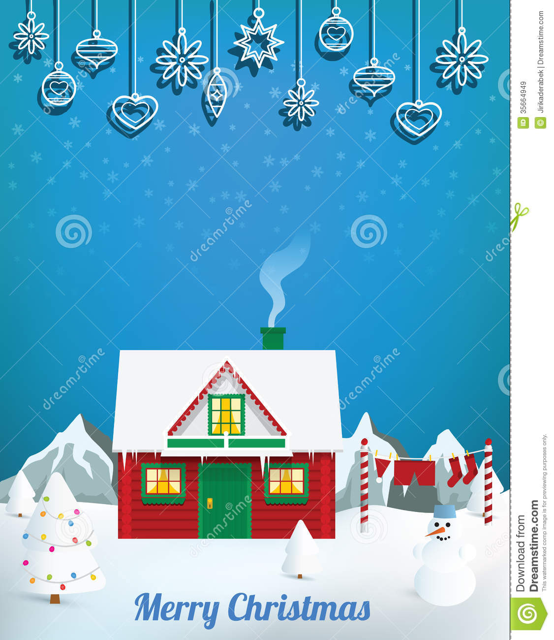 santa180s house royalty free stock images image 35664949