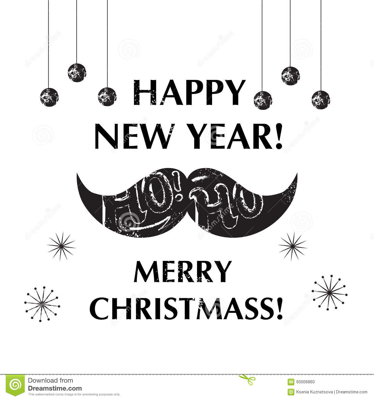 Santa\'s Moustache. Christmas And New Year Funny Stock Vector ...