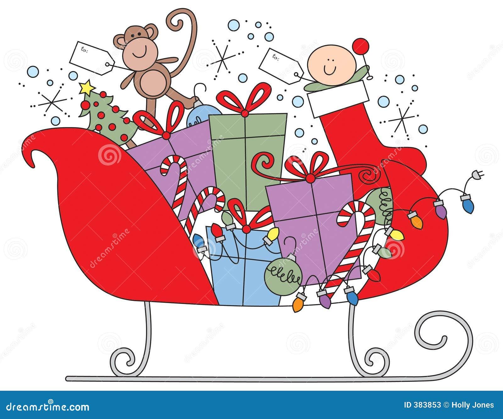 Santa s sleigh stock photos image 383853