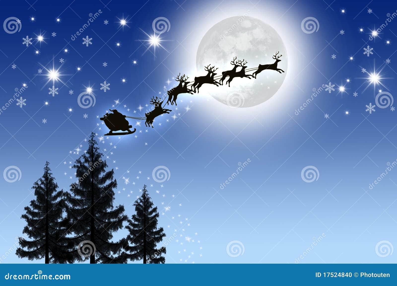 santa sky snow wallpaper - photo #10