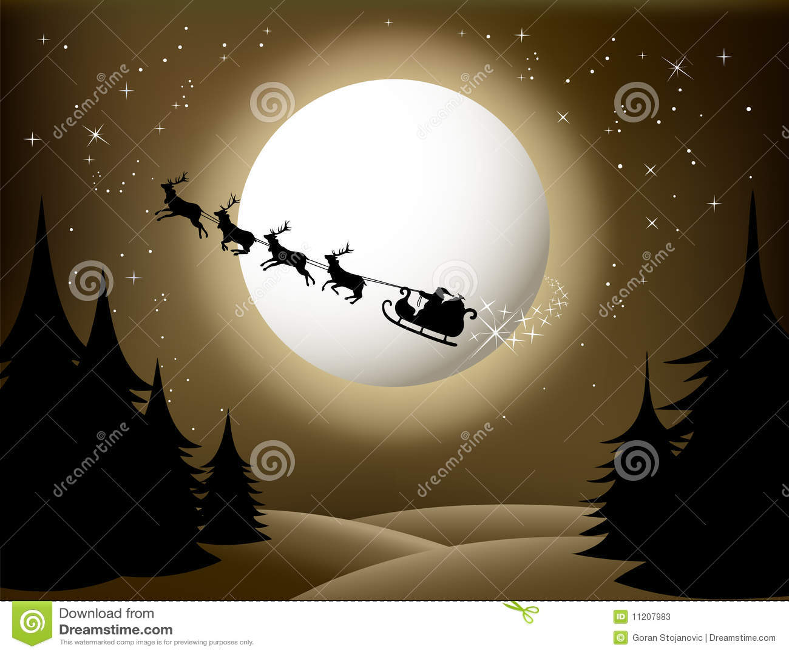 Santa Sleigh And Reindeer Stock Photos Image 11207983