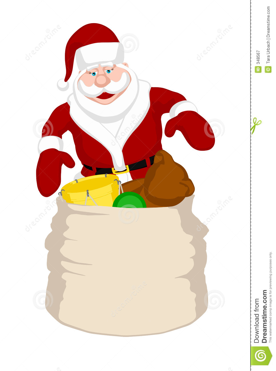 Sack Of Toys : Santa s toy sack royalty free stock photography image