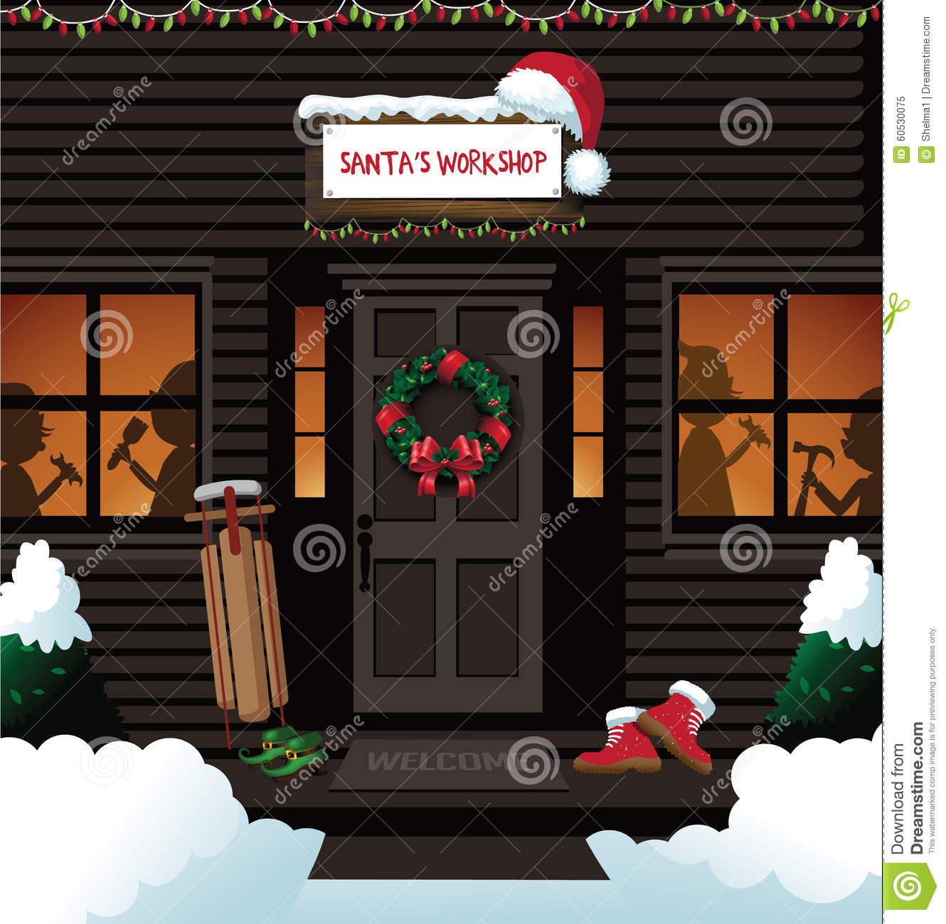 Santa s workshop at the north pole