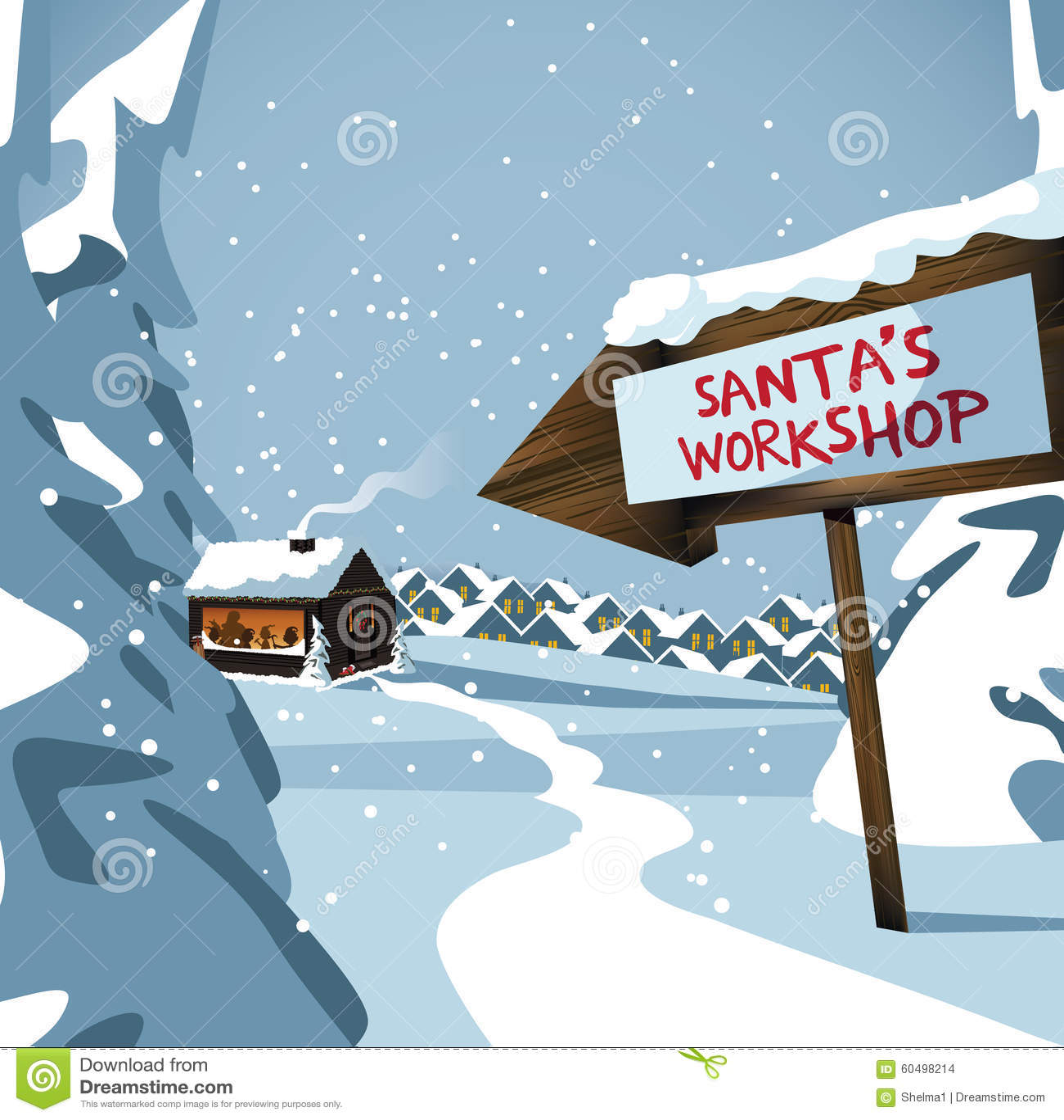 Santa s workshop at the north pole