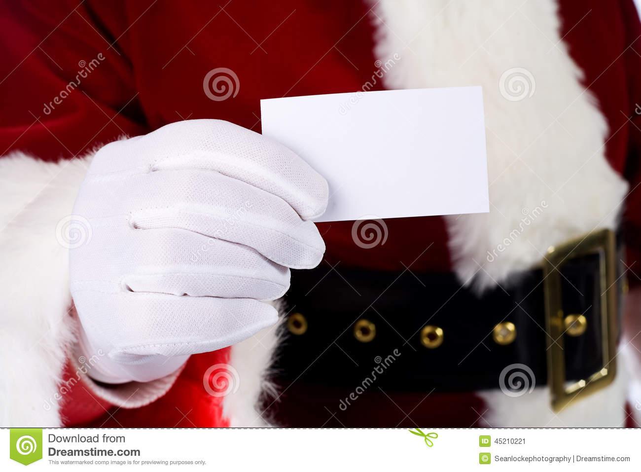 Santa santa claus holding out business card stock image image of download comp colourmoves