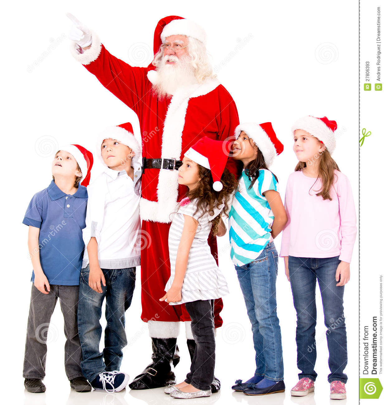 Santa Showing Something to The