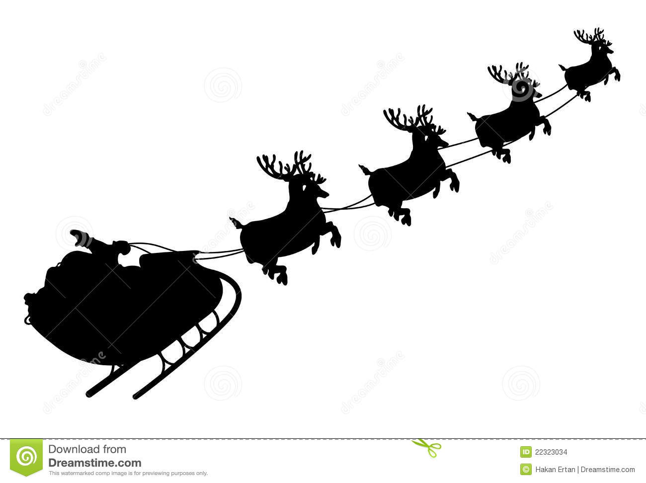 Santa Sleigh Stock Images - Image: 22323034