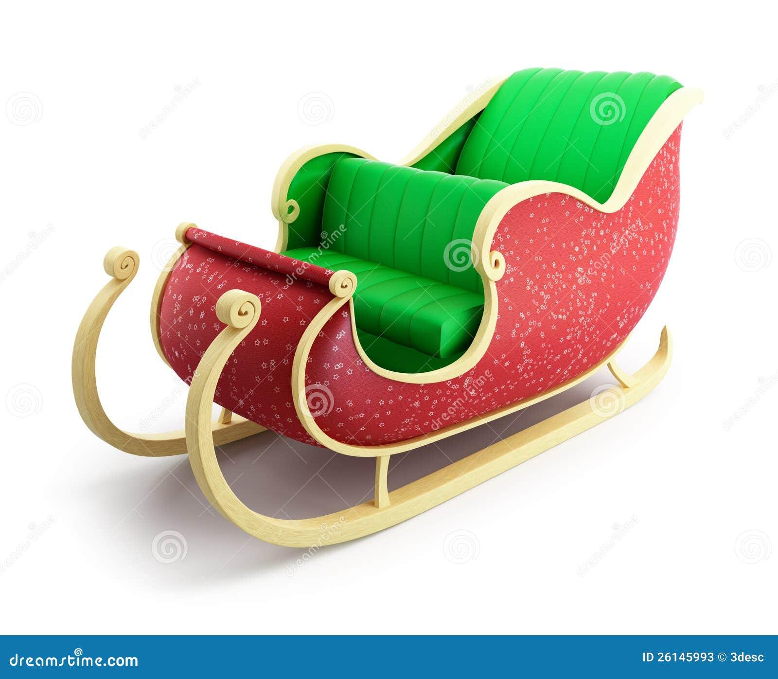 Santa sleigh stock photos image 26145993
