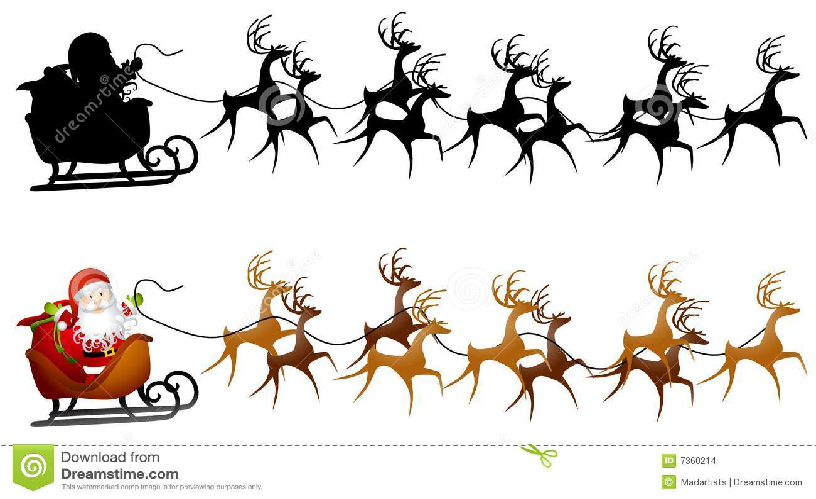 santa sleigh clip art stock illustration illustration of rh dreamstime com sleigh santa claus clipart santa and sleigh silhouette clipart
