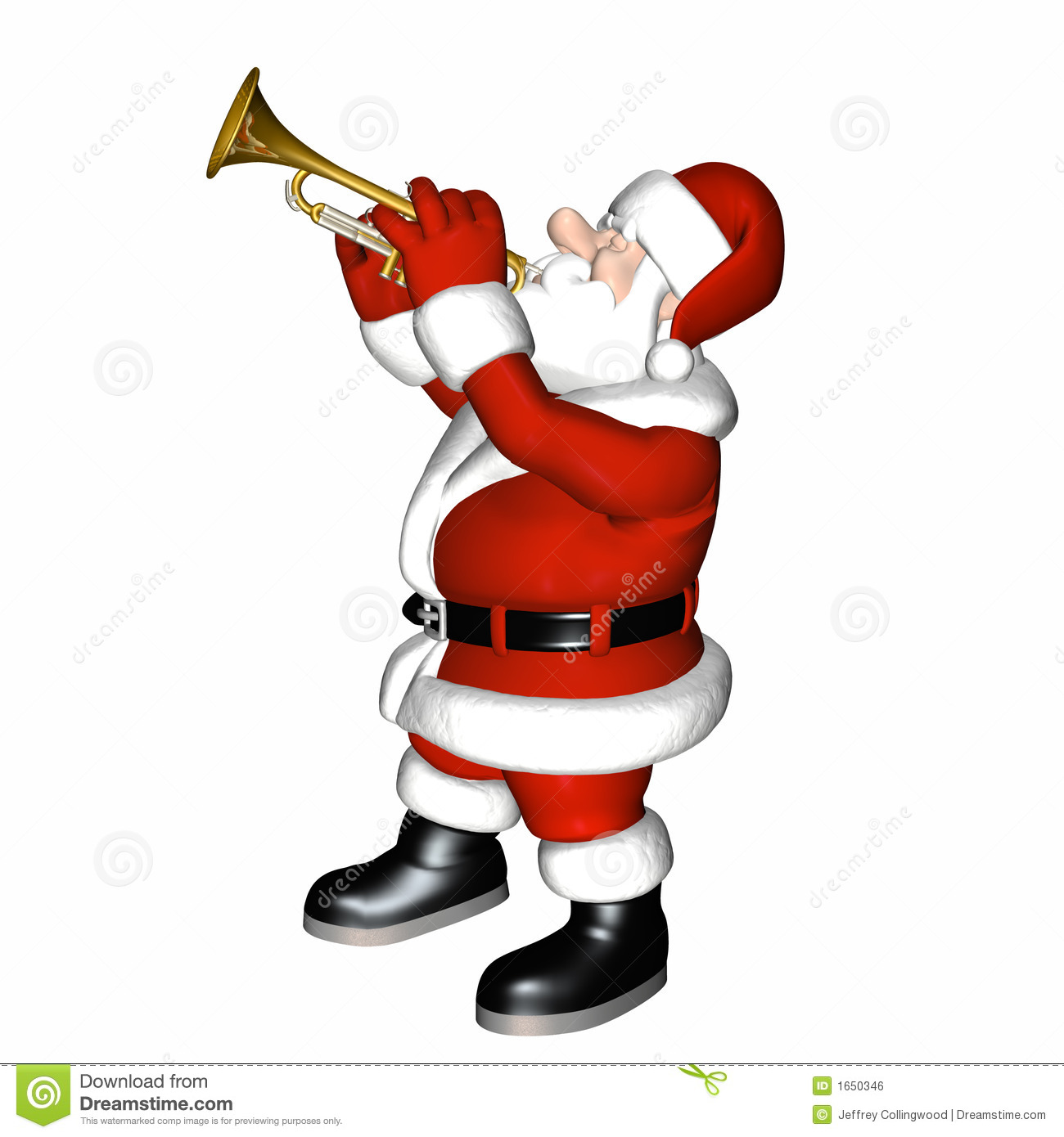 Santa Smooth Jazz 4 Royalty Free Stock Image Image 1650346