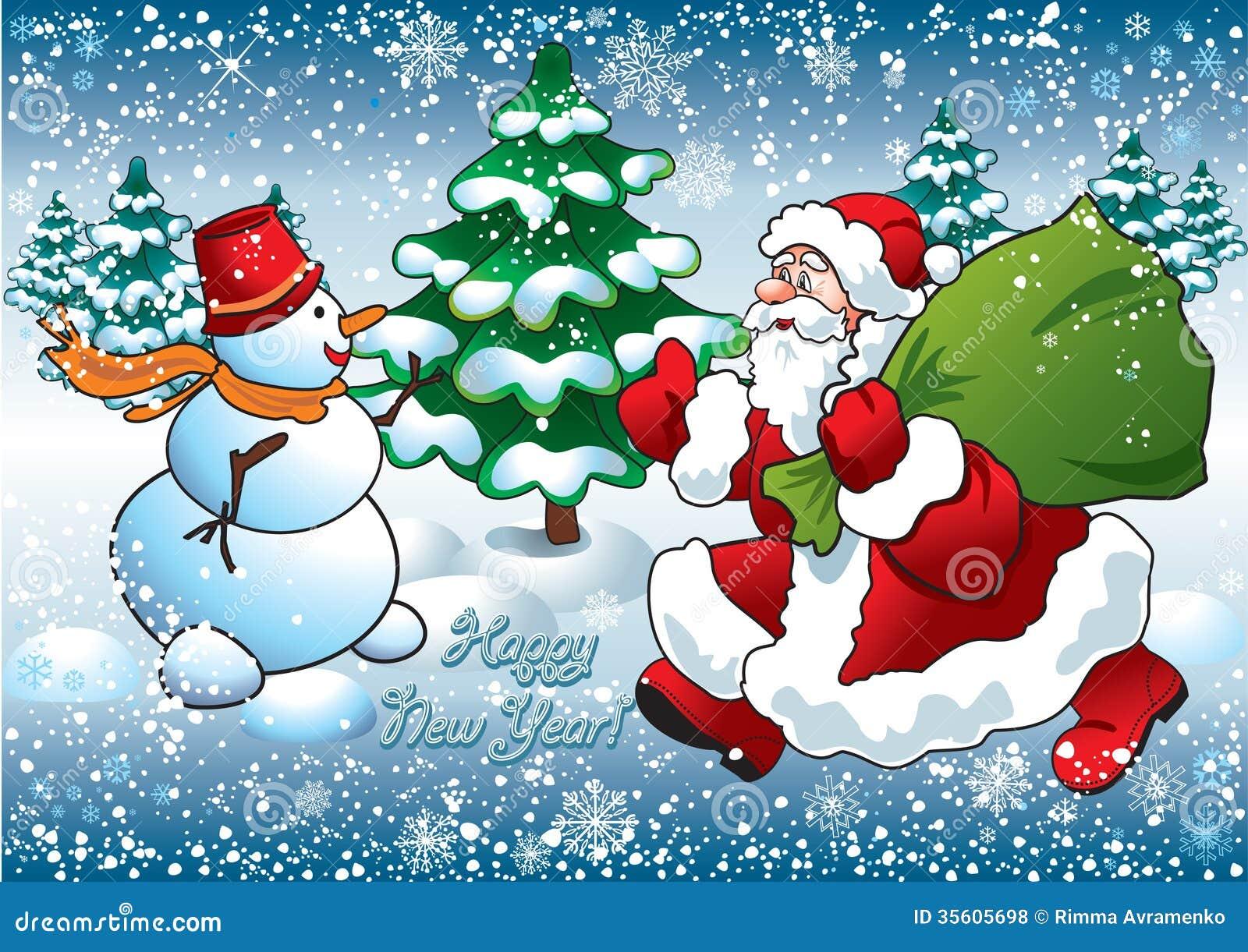 santa and snowman - Santa Snowman