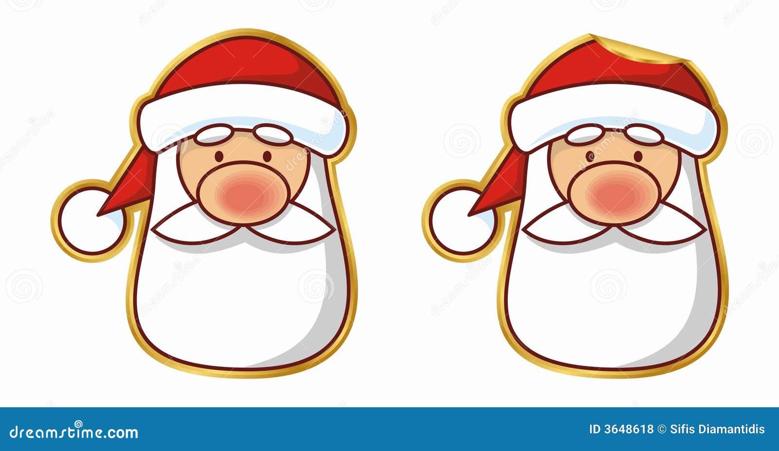 Santa sticker (vector)